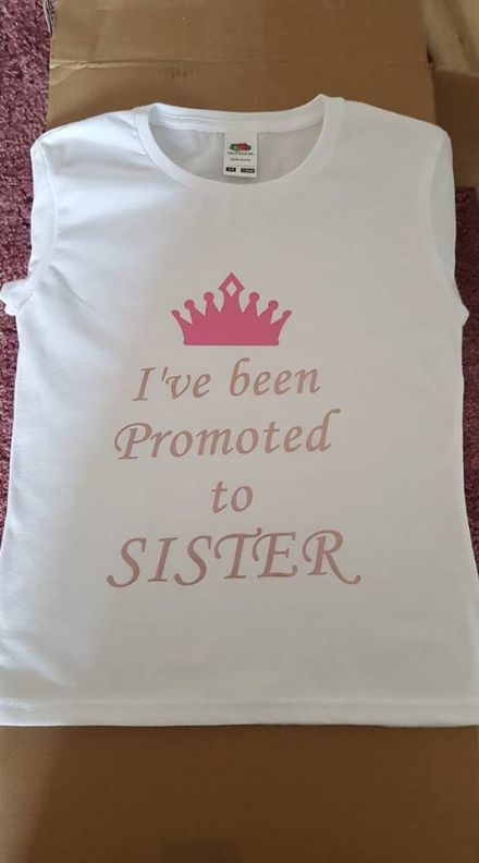 I've been Promoted to SISTER personalised t-shirt